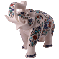 Marble Elephant Statue