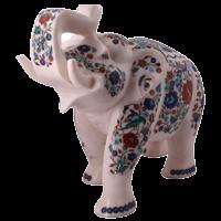 Marble Elephant Statue