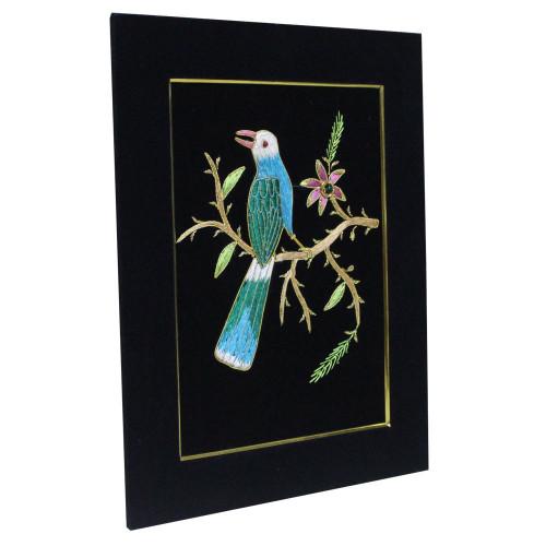 Embroidery Wall Panel Bird Silk Thread