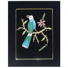 Embroidery Wall Panel Bird Silk Thread