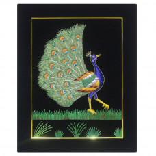 Embroidery Wall Panel Peacock Silk Thread