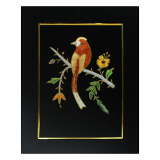 Beautiful Bird Design Zardozi Embroidery Wall Hanging Panel
