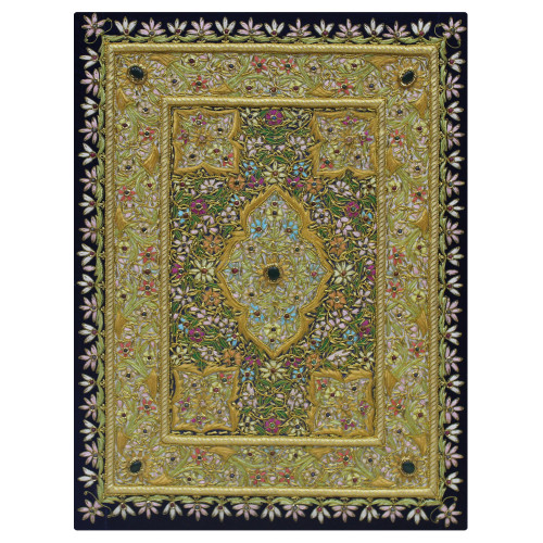 Traditional Zardozi Embroidery Wall Hanging Panel| For Home Decor