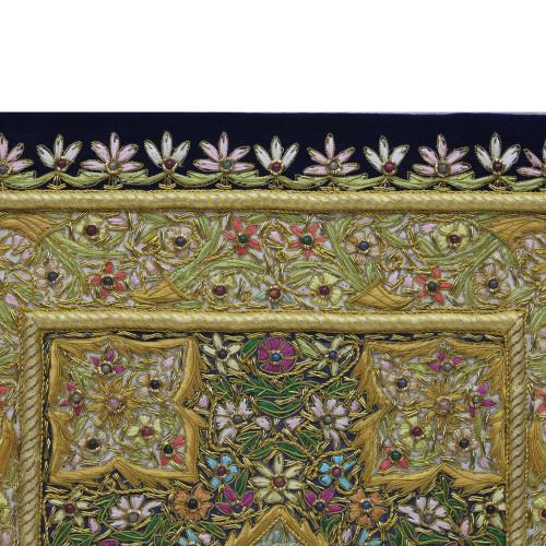Traditional Zardozi Embroidery Wall Hanging Panel| For Home Decor