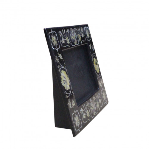 Black Marble Photo Frame Stone Picture Frame Marquetry Inlay Home Decor