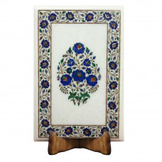Antique Side Table Top Inlaid and Decorated With Semi Precious Gemstones