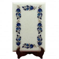 Pietra Dura Side Table Top Inlaid With Semi Precious Gemstones Unique Art Piece