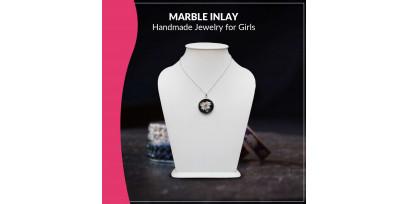 Marble Inlay Handmade Jewelry for Girls