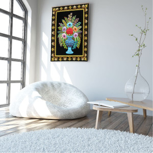 Zardozi Embroidery Wall Hanging Art work for home decor
