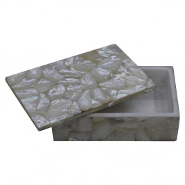 Beautiful Design White Marble Inlay Box Inlaid Mother Of Pearl