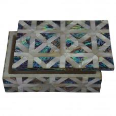 White Marble Jewelry Box Unique Design