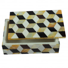 Mother Of Pearl Inlay White Marble Trinket Box
