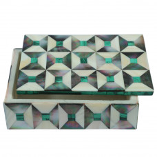 Decorative Jewellery Storage Box Moroccan Handmade Inlay Naturals Stone