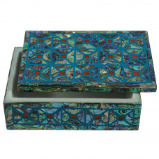 Paua Shell Inlay Marble Art Jewelry Box