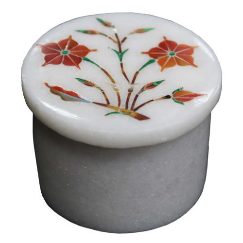 Handmade Antique Vintage Art White Jewelry Box
