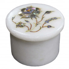 Handmade White Marble Handicrafts Ring Trinket Box