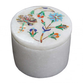 Antique Ring Holder White Marble Jewelry Box