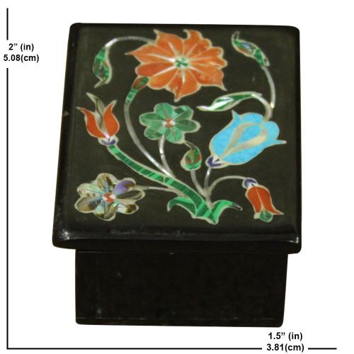Black Onyx Jewellry Box Scagliola Art Work