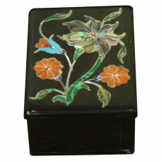 Beautiful Onyx Jewellry Box Pietra Dura Work For Souvenir
