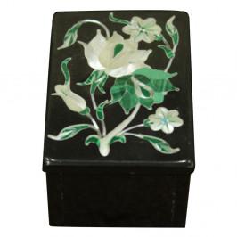 Onyx Ring Box Tree of Life Inlaid Malachite Gemstone