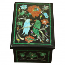Onyx Box For Bangles With Parrot Inlay Work On Top