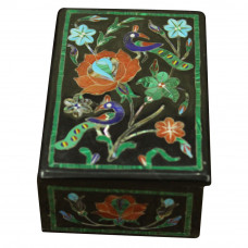India Traditional Jewelry Box  Inlay Rare Stones