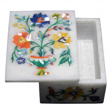 Marble Inlay Decorative Box For Bangles