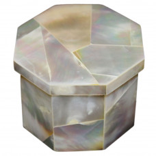 Octagonal White Marble Ring Box Gift For Wife