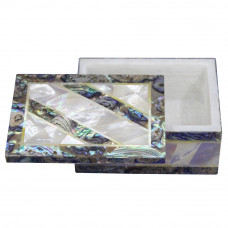 Moroccan Ring Box Mother Of Pearl Pietra Dura Art