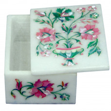 Marble Ring Box Mother Of Pearl Islamic Stone Art