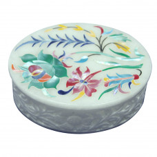 Tree of Life Marble Inlay Box For Jewelry Holder
