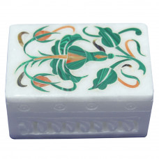 Marble Ring Box Handmade Inlay Art Work