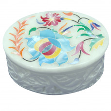 Oval Shape Mother Of Pearl  Box For Wedding Gift