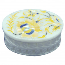 Oval Shape Mother Of Pearl  Box For Anniversary