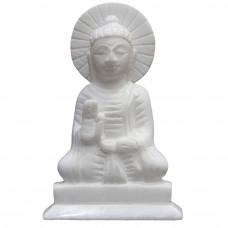"5"" x 3.5"" Inch Meditating Carving Buddha Figurine"