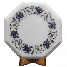 Handmade White Marble Inlay Cheese Chopping Board