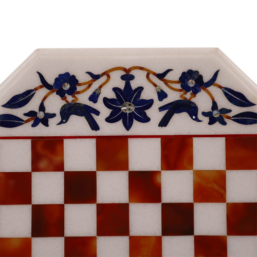 Home Decorative Octagonal White Marble Chess Table Top