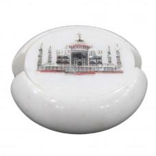 Round White Marble Tea Coaster Set