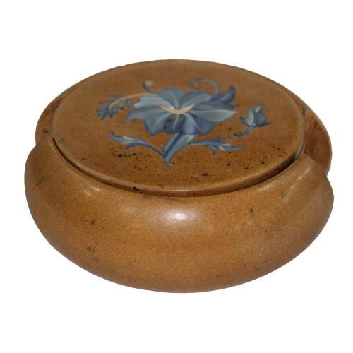 Round Jasper Tea Coaster Set Inlaid Semiprecious Stones