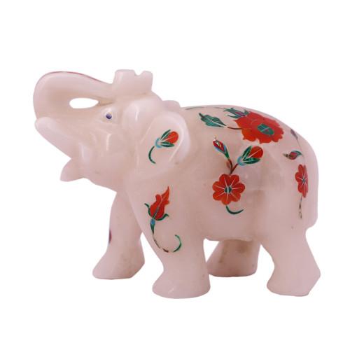 Home Decor White Marble Elephant Statue