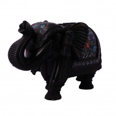 Black Marble Elephant Sculpture For Home Decor