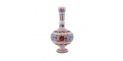 Marble Inlay Flower Vases Enchanting the Beauty of Luxury Homes