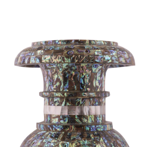 Paua Shell Inlaid Pietra Dura Art Marble Flower Vase