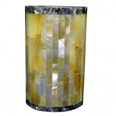 Beautiful White Marble Flower Vase Inlaid Yellow Pearl