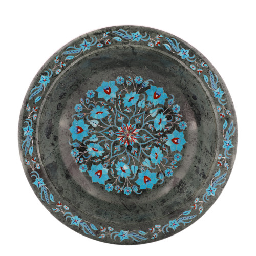 Handmade Green Marble Decorative Fruit Bowl For Home Decor