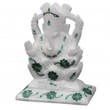Hindu God Ganesha Statue Decorated With Stones