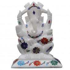 Unique Handmade Ganesha Statue  Decor With Stones