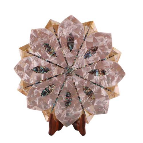 Pietra Dura Art Piece White Marble Lotus Bowl For Home