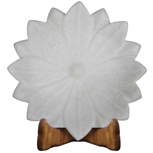 Beautiful White Marble Lotus Leaf Fruit Bowl For Italian Coffee Table