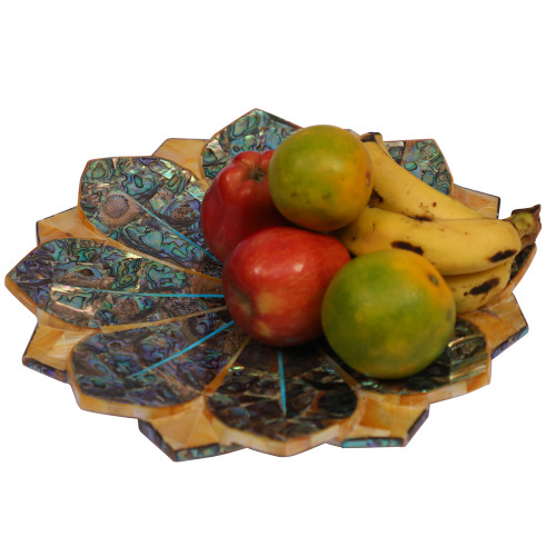 12'' X 12 '' Antique Marble Handmade Fruit Bowl to Decor Your Home